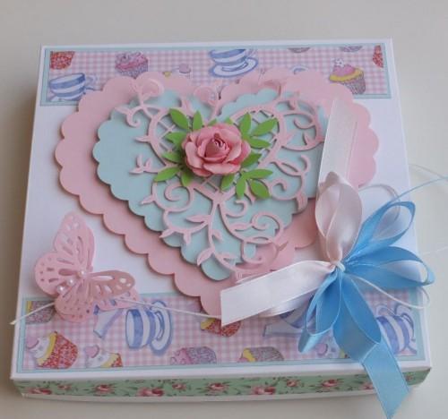 Podziękowanie dla nauczycieli, karteczka ręcznie robiona, serduszko, wykrojnik, sizzix, Marianna desingDSCF2896