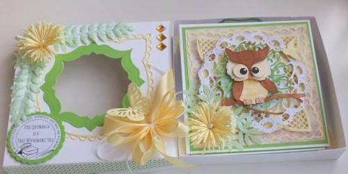 Życzenia dla nauczyciela, sówka, wykrojnik, sizzix, memory box, joy, cottage cutz karteczka DSCF2941