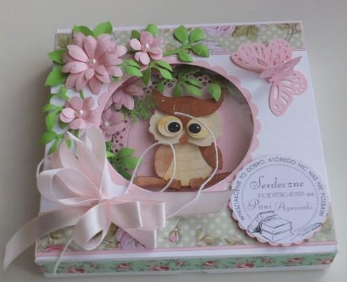 karteczka, życzenia podziękowania wykrojnik sizzix, memory box, joy, cottage cutzDSCF2942