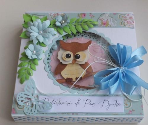 karteczka, podziękowanie, życzenia, wykrojnik sizzix, cottage cutz, memory box MD, Joy DSCF2945