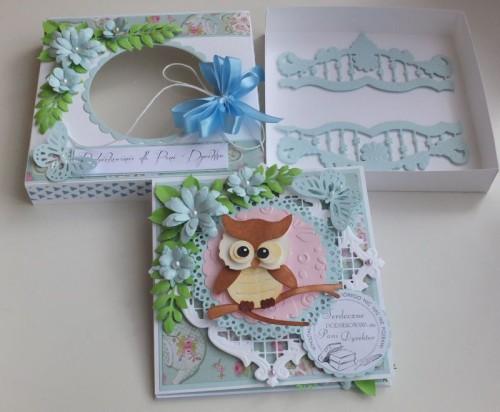 karteczka, podziękowanie, życzenia, wykrojnik sizzix, cottage cutz, memory box MD, JoyDSCF2946