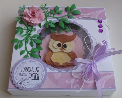 karteczka, podziękowanie, życzenia, wykrojnik sizzix, cottage cutz, memory box MD, JoyDSCF2948