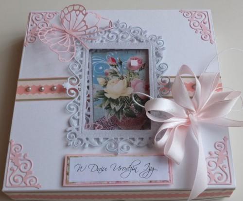 Urodziny, życzenia, kwiaty, wykrojnik, memory box, joy sizzix DSCF2979