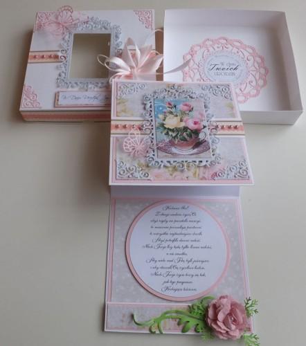 Urodziny, życzenia, kwiaty, wykrojnik, memory box, joy sizzixDSCF2980