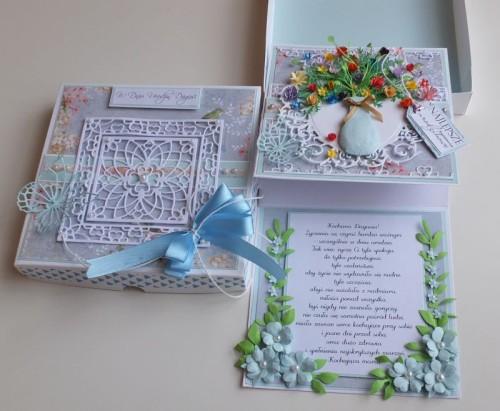 Urodziny, życzenia, kwiaty, wazon, memory box, joy, sizzixDSCF2987
