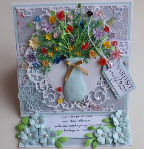 Urodziny, życzenia, kwiaty, wazon, memory box, joy, sizzixDSCF2988