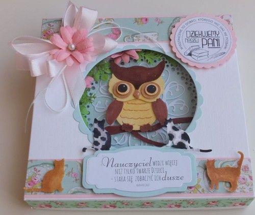 Karteczka, podziękowanie dla nauczycieli, sizzix, Joy, memory box, wykrojnikDSCF2890