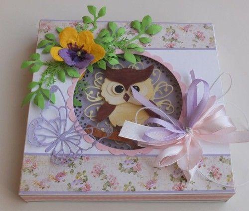 Karteczka ręcznie robiona, podzięowanie dla nauczyciela, sówka wykrojnik sizzix, memory box,joy DSCF2893