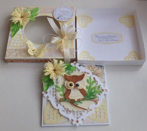 Życzenia dla nauczyciela, sówka, wykrojnik, sizzix, memory box, joy, cottage cutz karteczka DSCF2953