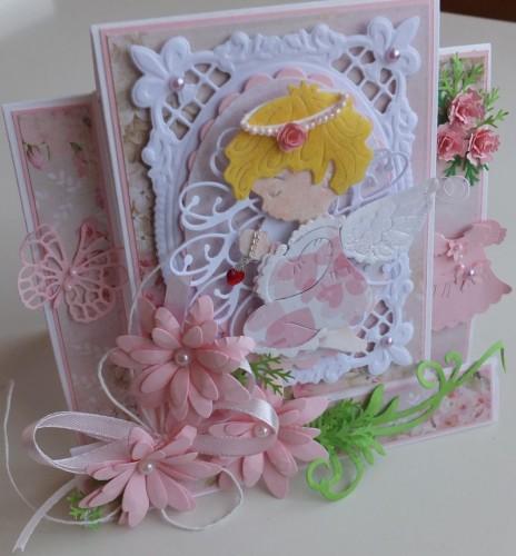 pamiątka, chest święty, karteczka, życzenia, chrzest, dzieci, stokrotki, aniołekDSCF3018