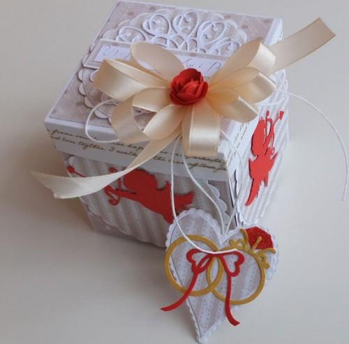 exploding box, ślubna karteczka, życzenia DSCF3026