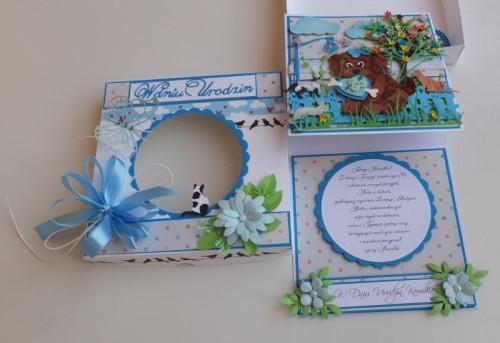 karteczka, życzenia, urodziny, dzieci, piesek, wykrojnik, cotagge cutz, memory box, Magnolia, MD, Joy, sizzixDSCF3053