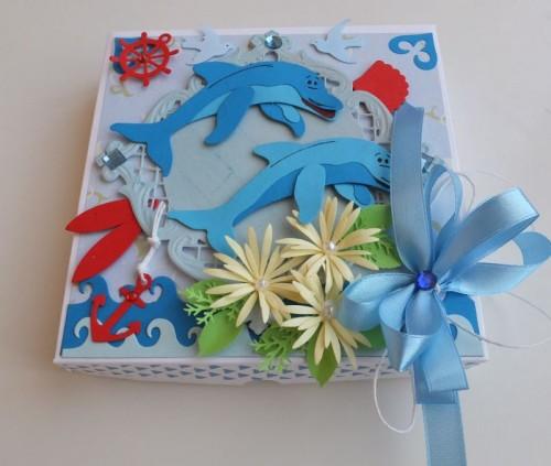 delfinki, wykrojnik cottage cutz, joy, impresion obsesion,memory box, życzenia karteczka dla dzieci imieniny, urodziny, pamiątkaDSCF3059