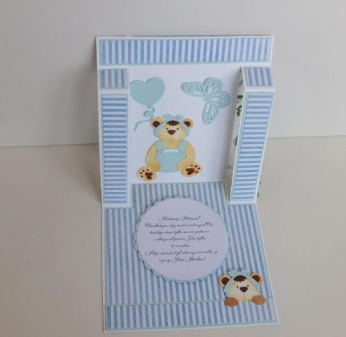 dla dzieci , pamiątka, życzenia,   karteczka ręcznie robiona wykrojnik, sizzix, memory boxDSCF3095