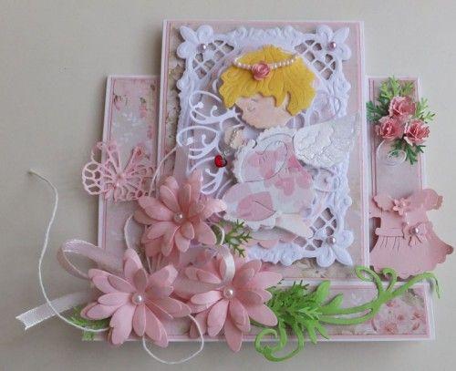 pamiątka, chest święty, karteczka, życzenia, chrzest, dzieci, stokrotki, aniołekDSCF3021