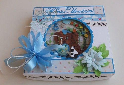 karteczka, życzenia, urodziny, dzieci, piesek, wykrojnik, cotagge cutz, memory box, Magnolia, MD, Joy, sizzixDSCF3052