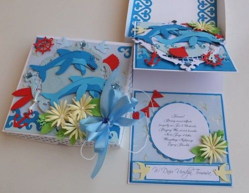 delfinki, wykrojnik cottage cutz, joy, impresion obsesion,memory box, życzenia karteczka dla dzieci imieniny, urodziny, pamiątkaDSCF3060