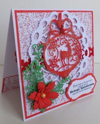 Boże Narodzenie, karteczka ręcznie robiona, życzenia, wykrojnik, aniołek, memory box, cottage cutz, sizixDSCF3283