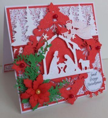 Boże Narodzenie, karteczka ręcznie robiona, życzenia, wykrojnik, aniołek, memory box, cottage cutz, sizixDSCF3279