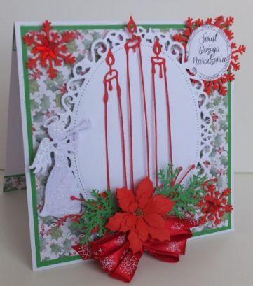 Boże Narodzenie, karteczka ręcznie robiona, życzenia, wykrojnik, aniołek, memory box, cottage cutz, sizixDSCF3284
