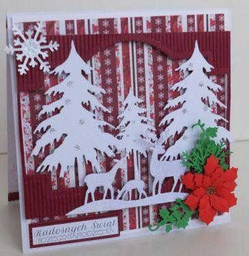 Boże Narodzenie, karteczka ręcznie robiona, życzenia, wykrojnik, aniołek, memory box, cottage cutz, sizixDSCF3275