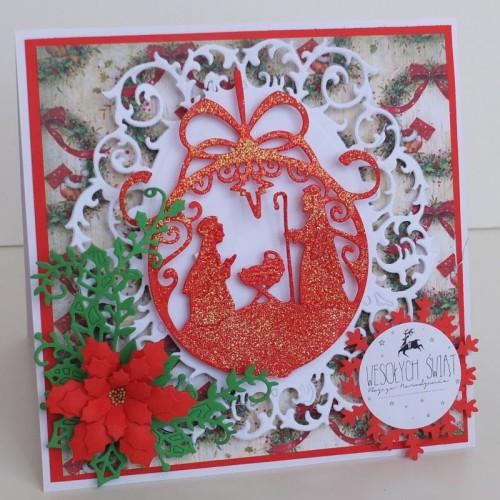 Boże Narodzenie, karteczka ręcznie robiona, życzenia, wykrojnik, aniołek, memory box, cottage cutz, sizixDSCF3274