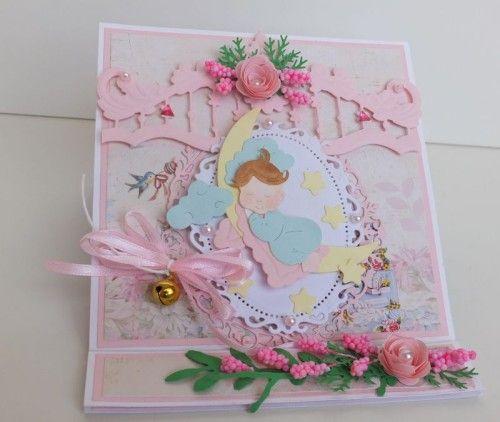 karteczka ręcznie robiona, życzenia dla dzieci wykrojnik cottage cutz Marianna Desing, sizzixDSCF3286
