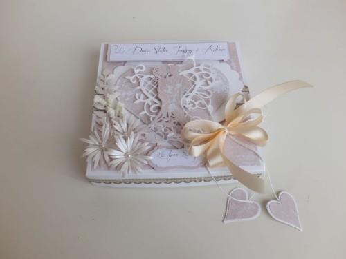 ślub, pamiątka, życzenia, eksploding box  karteczka recznie robiona wykrojnik, sizzix, memory boxDSCF3077