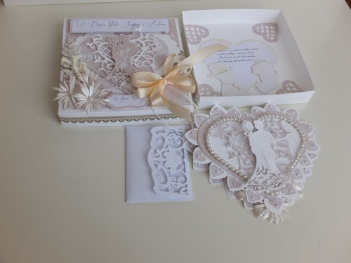 ślub, pamiątka, życzenia, eksploding box  karteczka recznie robiona wykrojnik, sizzix, memory boxDSCF3081