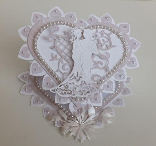 ślub, pamiątka, życzenia, eksploding box  karteczka recznie robiona wykrojnik, sizzix, memory boxDSCF3082