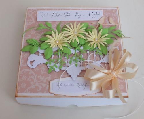 ślub, pamiątka, życzenia,   karteczka ręcznie robiona wykrojnik, sizzix, memory boxDSCF3089