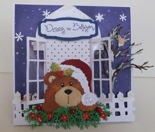 Wykrojnik Cottage Cutz, zyczenia, karteczka, Boże NarodzenieDSCF3449