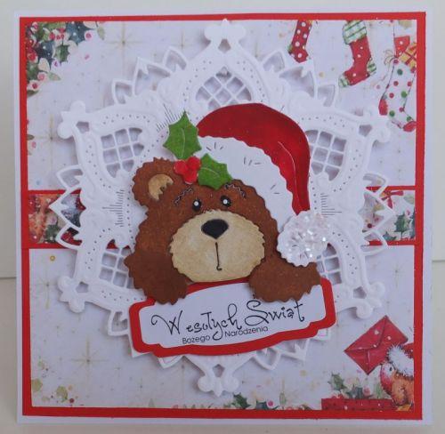 Wykrojnik Cottage Cutz, zyczenia, karteczka, Boże NarodzenieDSCF3450