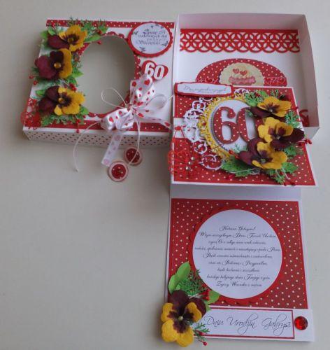 Urodziny, życzenia, karteczka recznie robiona wykrojnik, sizzix, memory box