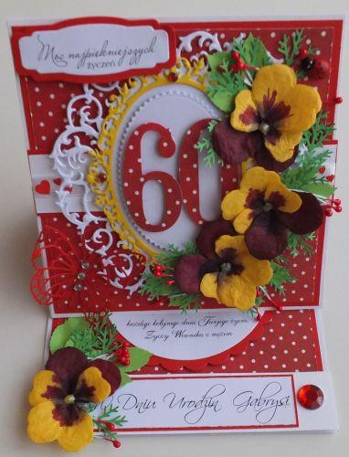 Urodziny, życzenia, karteczka recznie robiona wykrojnik, sizzix, memory boxDSCF3065