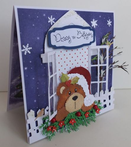 Wykrojnik Cottage Cutz, zyczenia, karteczka, Boże NarodzenieDSCF3447