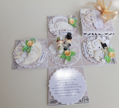 Ślub, pamiątka, życzenia , karteczka ręcznie robiona wykrojnik, sizzix, memory box DSCF3068