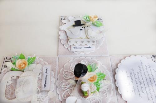 ślub, pamiątka, życzenia, eksploding box  karteczka recznie robiona wykrojnik, sizzix, memory boxDSCF3070