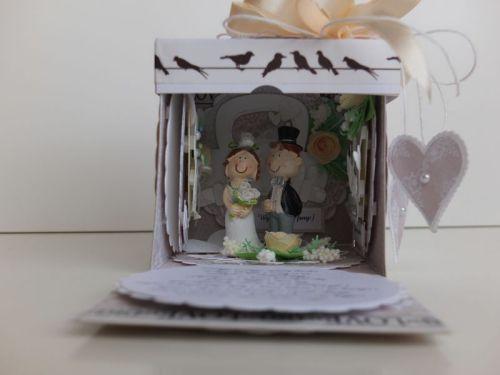 ślub, pamiątka, życzenia, eksploding box  karteczka recznie robiona wykrojnik, sizzix, memory boxDSCF3073