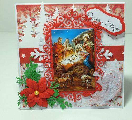 kartka ręcznie robiona, życzenia, Boże Narodzenie DSCF3074