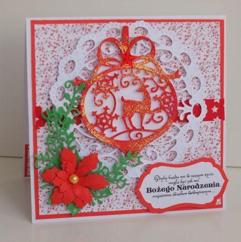 kartka ręcznie robiona, życzenia, Boże NarodzenieDSCF3016