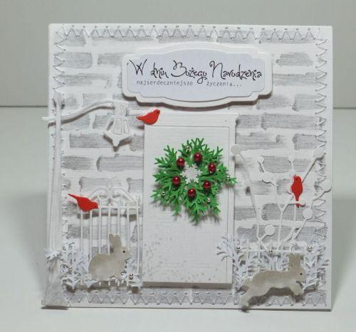kartka ręcznie robiona, życzenia, Boże Narodzenie DSCF3020