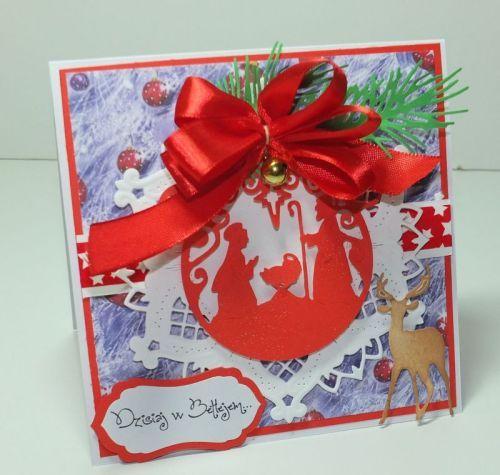 kartka ręcznie robiona, życzenia, Boże NarodzenieDSCF3072
