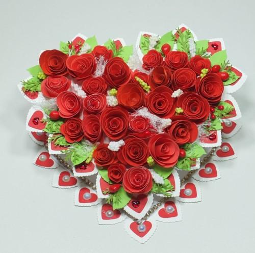 karteczka, Walentynki, serduszko, wykrojnik, sizzix, memory box, Marianna Desing, Marta Stewart, serduszko, życzenia, karteczka ręcznie robiona, DSCF3007