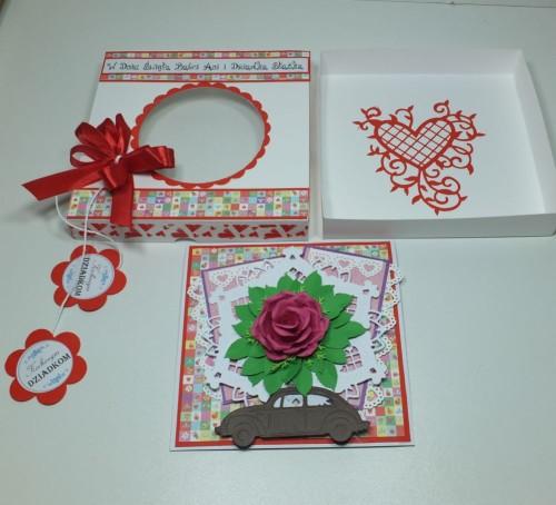 karteczka, Dzień Babci, Dzień Dziadka, życzenia, wykrojnik, sizzix, memory box, Marianna Desing, dziurkacz Marta Stewart, DSCF3020
