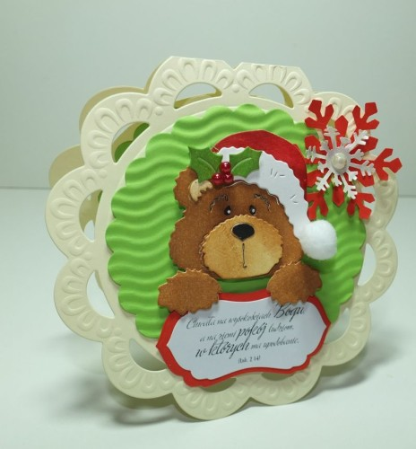 Boże Narodzenie, Miś, Cottage, Marianna DesingDSCF3088