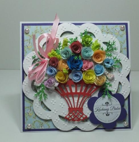 Dzień Babci, Dzień Dziadka, zyczenia, karteczka, sówka, kwiatuszki, wykrojnik, sizix sówka, DSCF3103