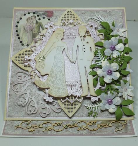 ślubna karteczka, życzenia, wykrojnik, memory box, Marianna Desing, cheery Lynn Desings, Marta Stewart, DSCF3014