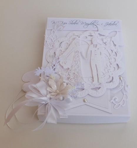 ślub, życzenia, karteczka, wykrojnik, Tattered Lace, cheery Lynn Desings, Cottage cuttz, Marianna Desing, sizzix, DSCF3540