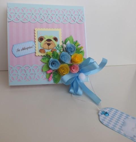 karteczka, narodziny, misiu, cottage cutzzDSCF3546